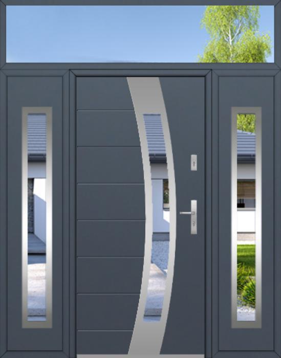 aangepaste configuratie - Fargo-deur met twee zijpanelen en bovenzijruit