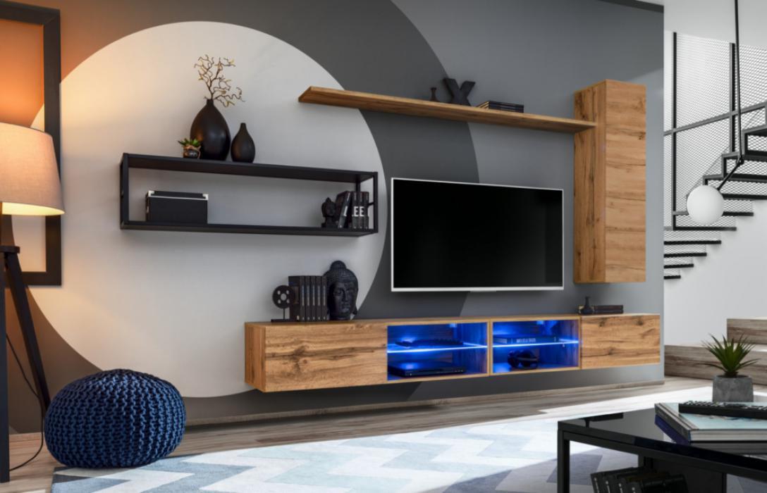Shift M4 - aan de muur gemonteerde tv-kast