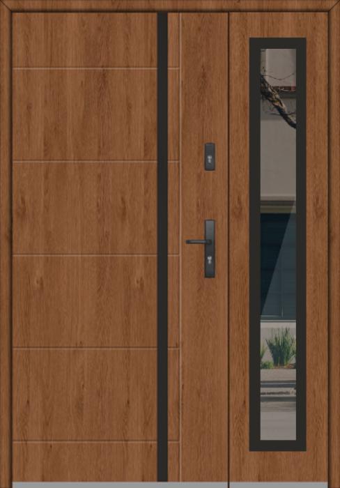 Fargo 41A DB - enkele deur met zijpanelen