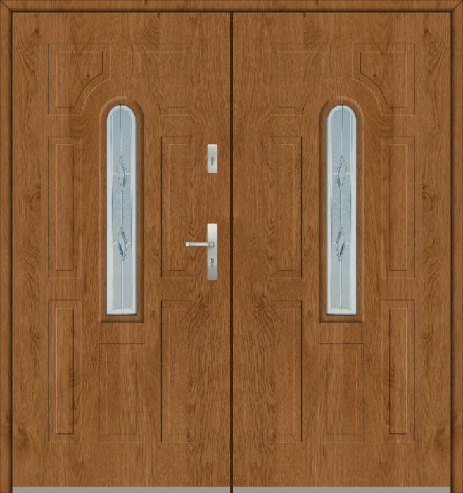 Fargo 5 double - massief stalen dubbele buitendeur / Franse deur