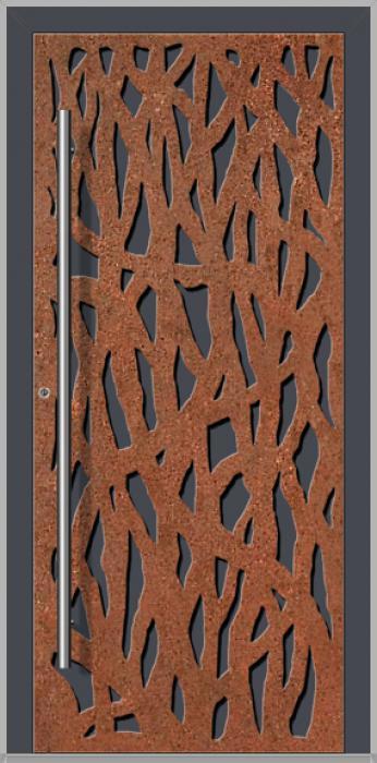 LIM Corrode  - Aluminium voordeur met gecorrodeerd cortenstaal