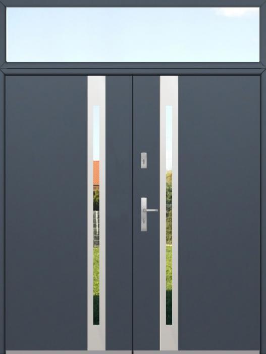 aangepaste configuratie - Dubbele Fargo-deur met bovenlicht