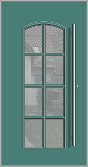 RAPSODIA-T - klassieke aluminium voordeur met glas
