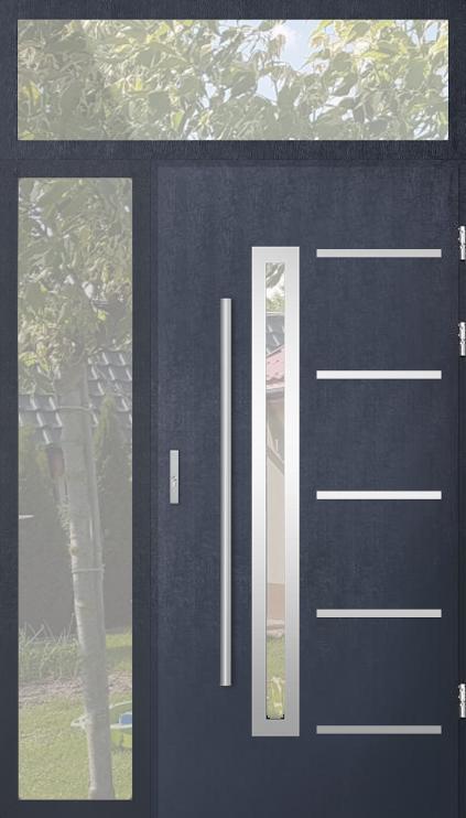 aangepaste configuratie - STA deur met linker en bovenste stadslicht (uitzicht vanaf de buitenkant)