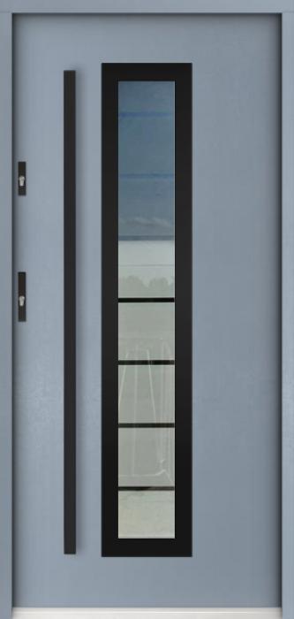 Sta Hevelius noir - buitendeur met glas