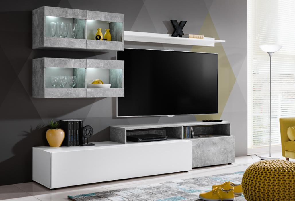 Lowell - tv meubel wit