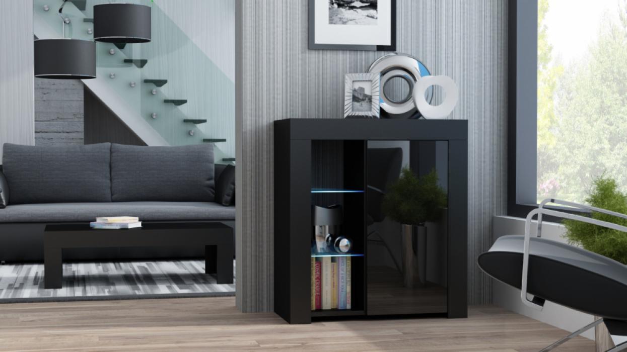 Milano Dressoir 1D - zwart