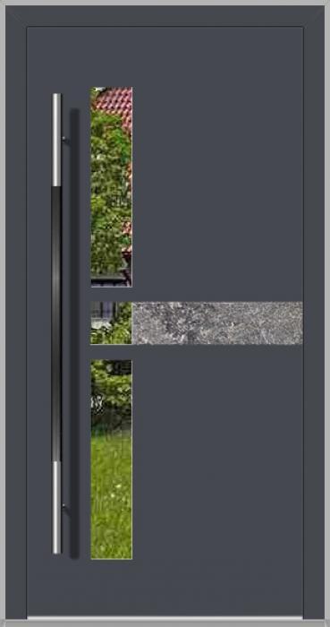 LIM Chip-BS - aluminium voordeur met natuursteen