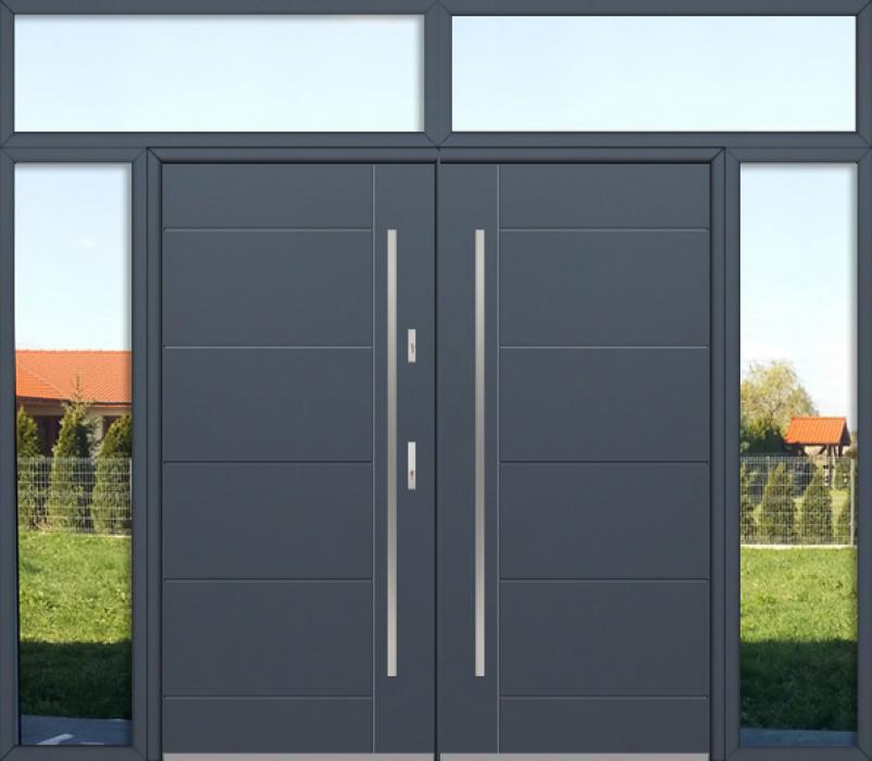 aangepaste configuratie - Fargo dubbele deur met linker, rechter en bovenste stadslichten
